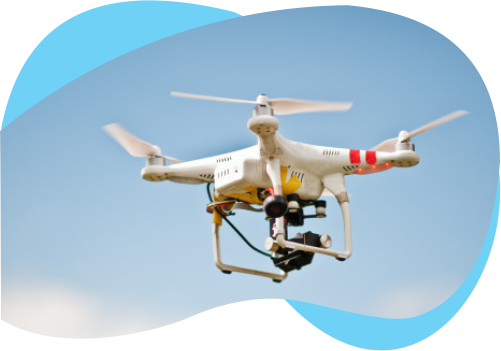 Drones are used to create aerial view photography with silky smooth stable videos by AWV Production LLC